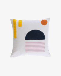 Natala blue semicircle cushion cover 45 x 45 cm