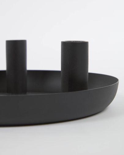 Eire black metal candle holder 8 cm