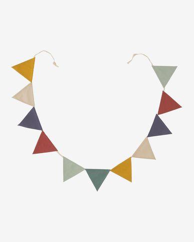 Slinger Celia met vlaggetjes van 100% biologisch katoen (GOTS) multicolour