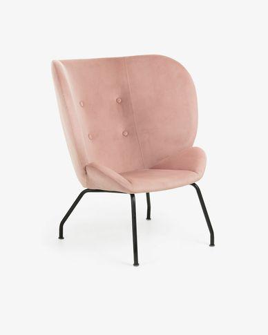 Pink velvet Violet armchair