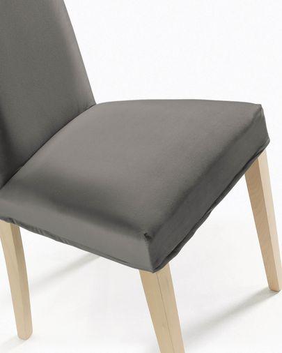 Freda chair cover velvet grey