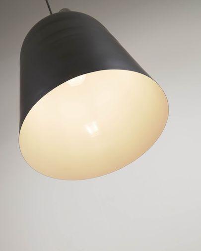 Lámpara de techo Daian de metal con acabado pintado negro