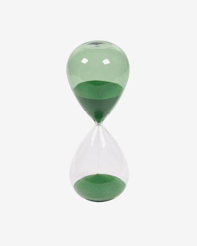 Rellotge de sorra Breshna vidre verd 25 cm