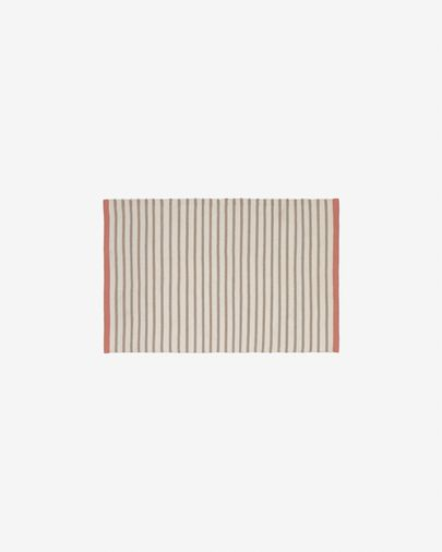 Catiana PET brown striped mat 60 x 90 cm