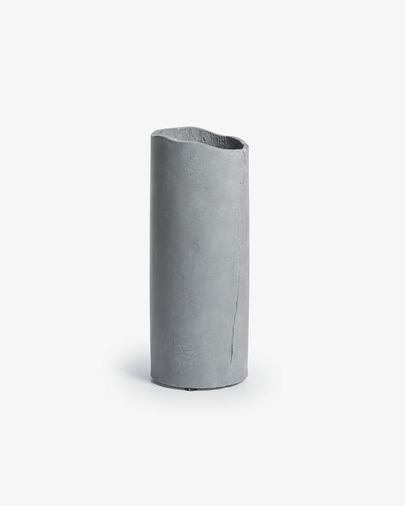 Nille cement vaas donkergrijs