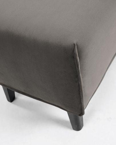Banqueta Dyla vellut gris 111 cm
