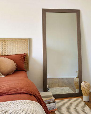 Yvaine spiegel walnoten afwerking 80,5 x 180,5 cm