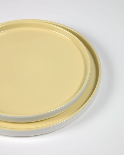 Geel keramisch dinerbord Midori