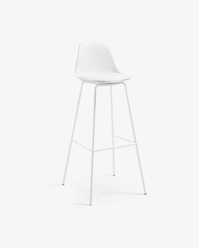 Tabouret Brighter blanc hauteur 75 cm