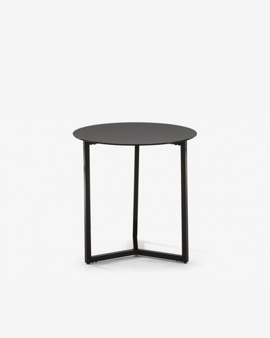 Table d'appoint Raeam Ø 50 cm noir