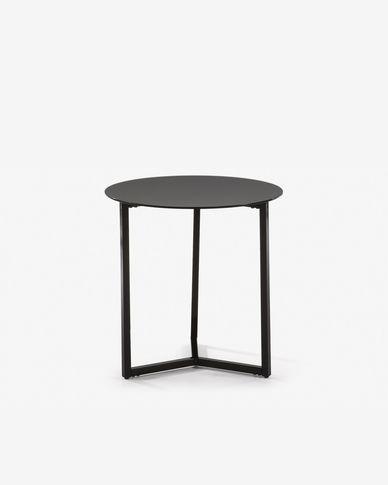 Mesa de apoio Raeam Ø 50 cm preto
