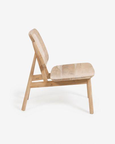 Nadra solid teak and rattan armchair