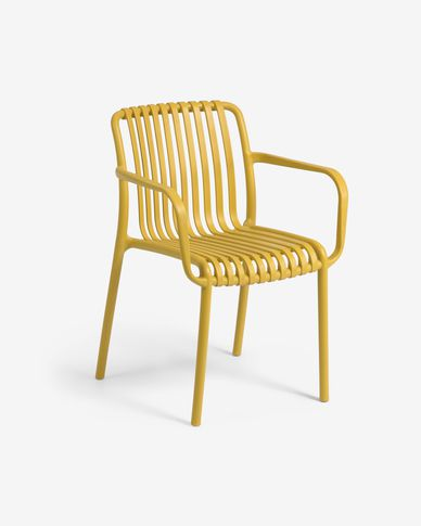Isabellini garden chair in mustard