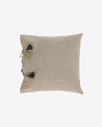 Varina 100% cotton cushion cover in brown 45 x 45 cm