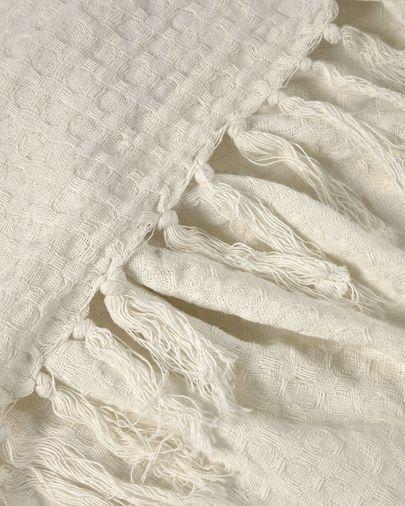 Witte deken Shallowy van 100% katoen 130 x 170 cm