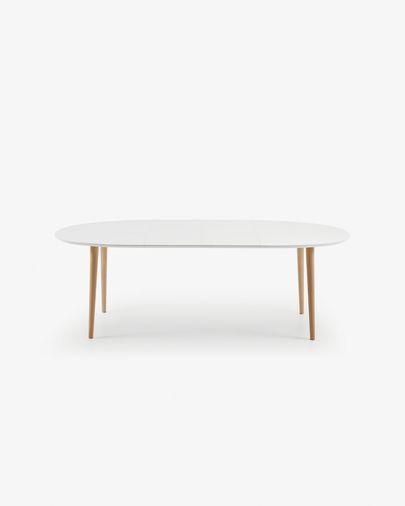 Oqui uitschuifbare ovale tafel 140-220 cm wit