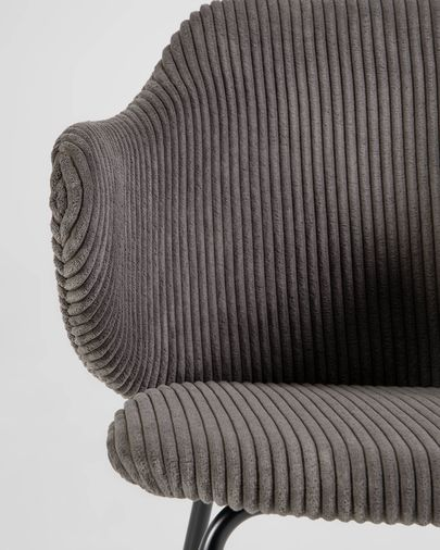 Suanne chair in dark grey thick corduroy
