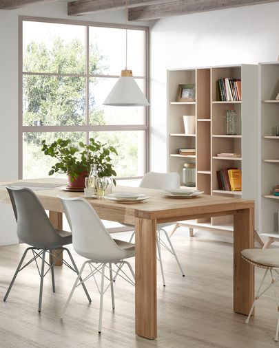 Briva extendable table with natural oak veneer 200 (280) x 100 cm