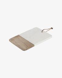 Danelle marmer en hout serveerplank