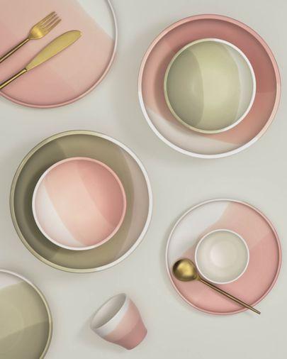 Bol pequeño Sayuri de porcelana rosa y blanco