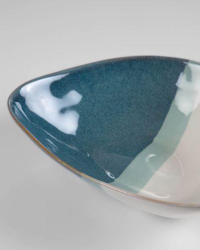 Ciotola Nelba irregolare bianco e azzurro
