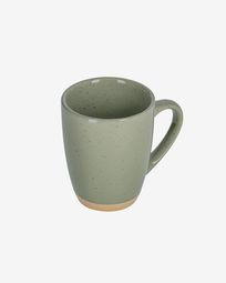 Tilla ceramic cup in dark green