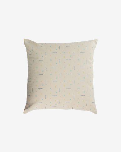 Zale 100% cotton multi-coloured cushion cover 45 x 45 cm