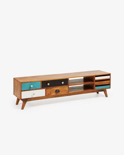 Móvel TV Conrad 160 x 41 cm madeira maciça de mangueira