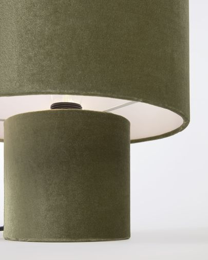 Eastend Table Lamp In Green Velvet, Sage Color Lamp Shades