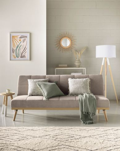 Nirit sofa bed in grey 180 cm