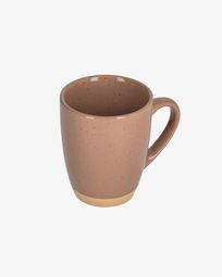 Tilla ceramic cup in light brown