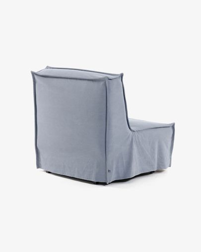 Slaapbank Lyanna blauw 90 cm