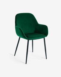 Konna green velvet chair