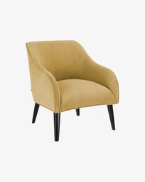 Bobly corduroy armchair in mustard