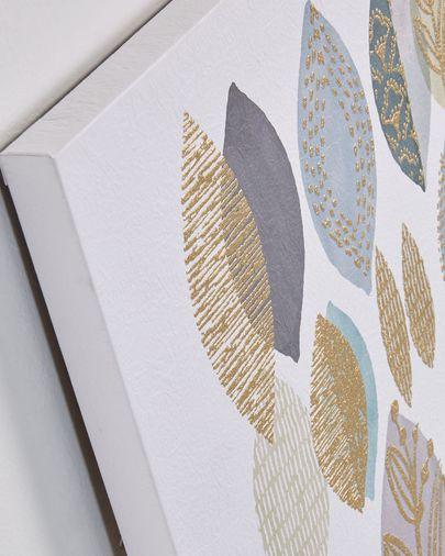 Silva art print leaves 60 x 60 cm