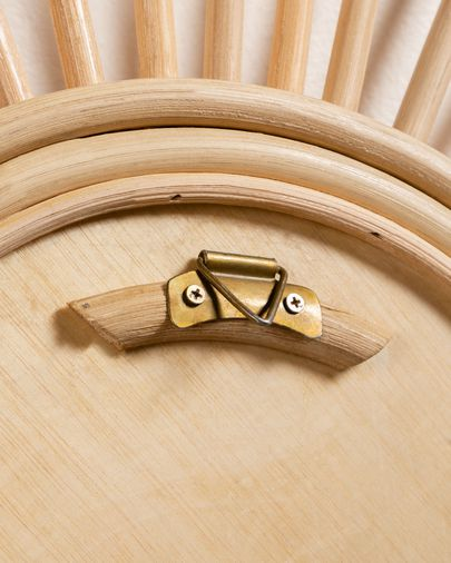 Espejo Marelli de ratán Ø 60 cm natural