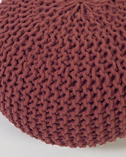 Puf redondo Kennis 100% algodón terracota Ø 60 cm