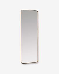 Marco gold metal wall mirror 55 x 150,5 cm