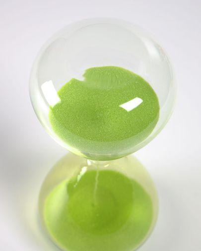 Sablier Breshna en verre vert 14 cm
