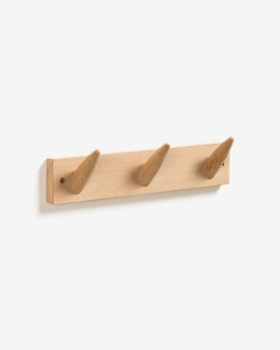 Penjador de paret Natane 3 ganxos fusta bedoll