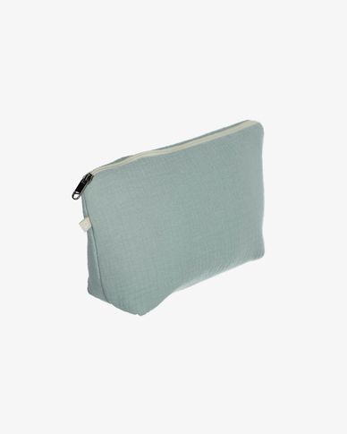 100% organic cotton (GOTS) Breisa Wash Bag in turquoise