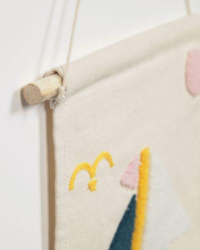 Tapiz mural Delmare 100% algodón velero multicolor 25 x 25 cm