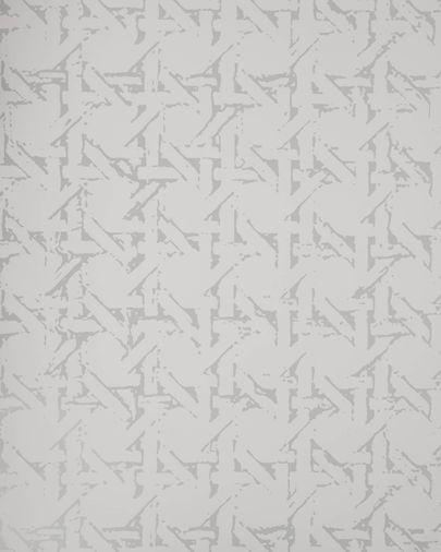 Papel pintado Viveka gris y plateado 10 x 0,53 m FSC MIX Credit