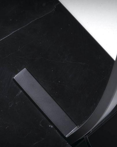 Làmpada de peu acer i marbre negre