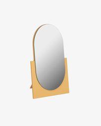 Mica mirror mustard mustard 17 x 25 cm