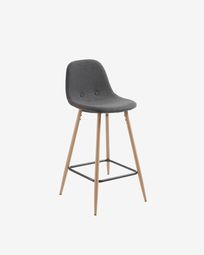 Dark grey Nolite stool height 65 cm