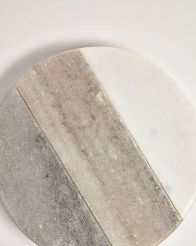Set Xamila de 4 posavasos de mármol multicolor