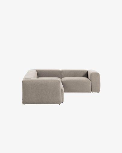 Blok 3-Sitzer Ecksofa beige 290 x 230 cm