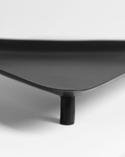 Bandeja Saffi triangular metal negro