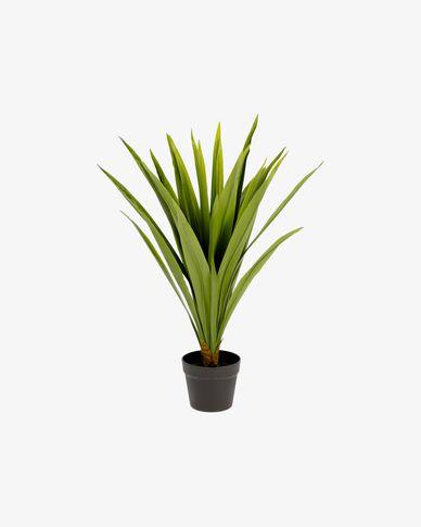 Planta artificial Yucca con maceta negro 80 cm